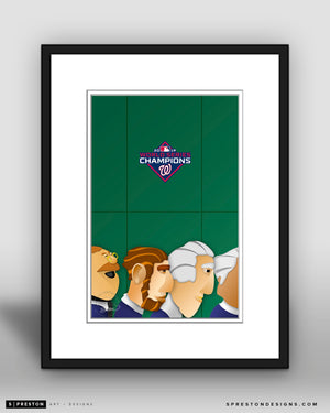 Minimalist Nationals Park - World Series 2019 Variant - Washington Nationals - S. Preston
