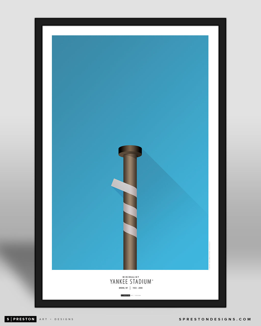 Minimalist Old	Yankee Stadium (Louisville Bat) Poster Print New York Yankees - S Preston