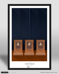 Minimalist Old Yankee Stadium Poster Print New York Yankees - S Preston