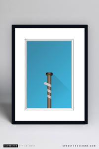 Minimalist Old	Yankee Stadium (Louisville Bat) - New York Yankees - S. Preston