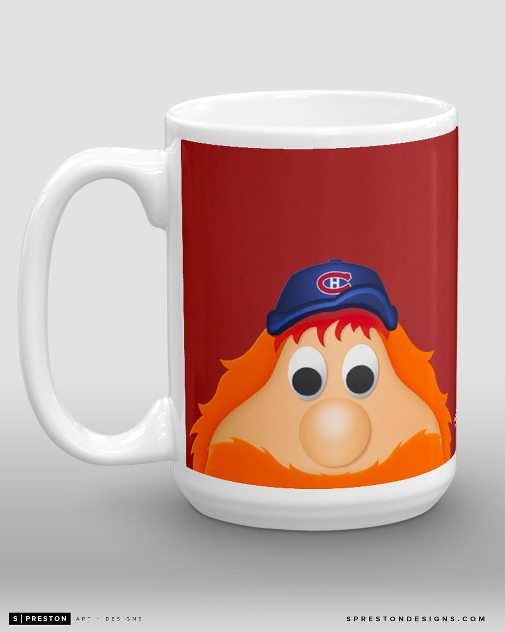 Minimalist Youppi! Coffee Mug - NHL Licensed - Montreal Canadiens Mascot