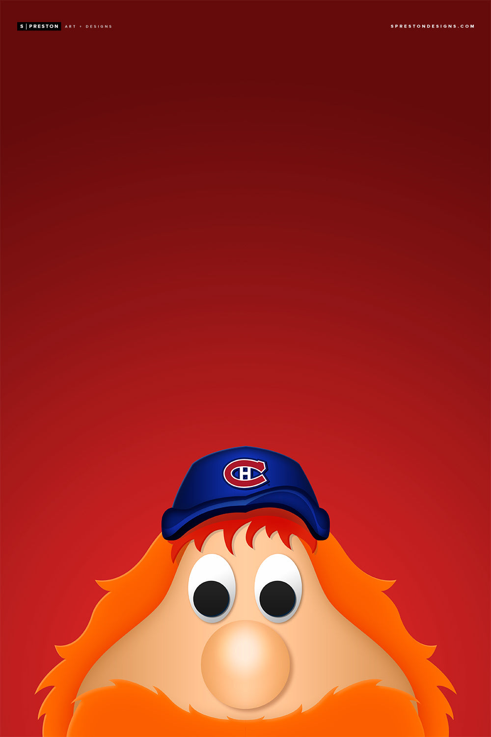 Minimalist Youppi! Art Print - Montreal Canadiens - S. Preston Art + Designs