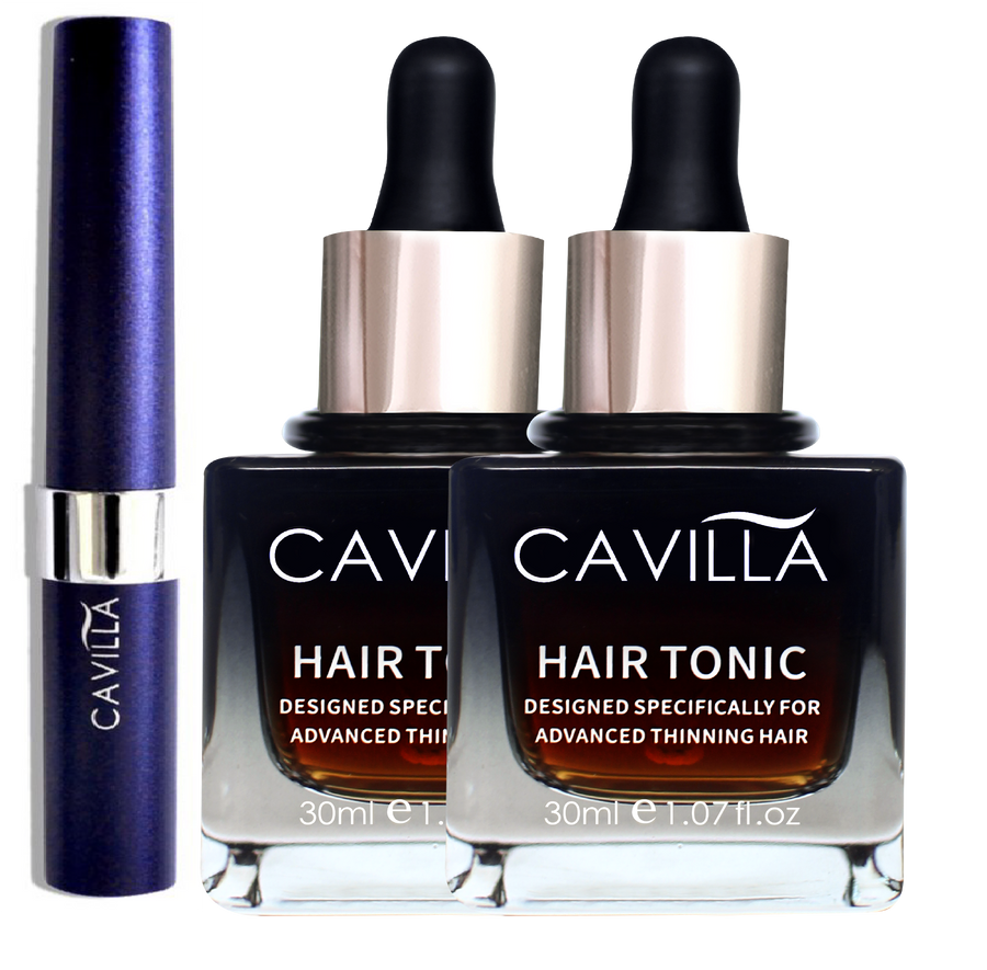 Cavilla Best Seller 1L2H (Cavilla Eyelash Serum x 1 & Cavilla Hair Tonic x 2) - Cavilla Singapore Official