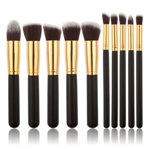 10 Piece Kabuki Brush Set BLACK,  - My Make-Up Brush Set, My Make-Up Brush Set  - 2