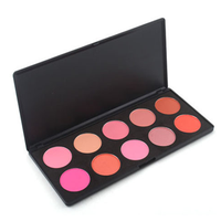 10 Color Blush Palette , Make Up Brush - MyBrushSet, My Make-Up Brush Set  - 1