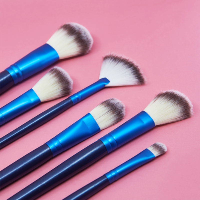 Ocean Blue 24 Piece Makeup Brush Set