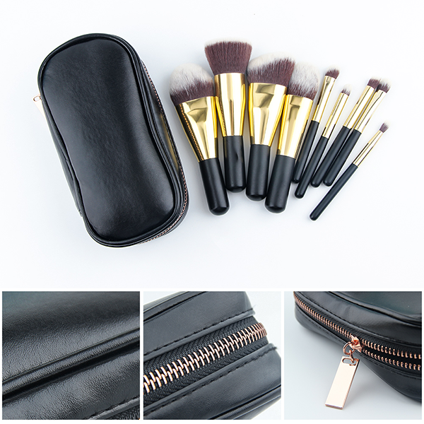 9 Piece Mini Travel Brush Set