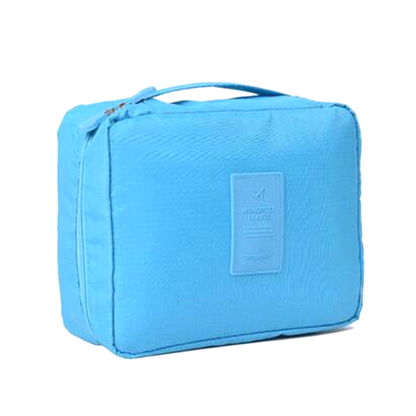 Compact Travel Cosmetic Bag Blue, Makeup Organizer - My Make-Up Brush Set, My Make-Up Brush Set  - 4