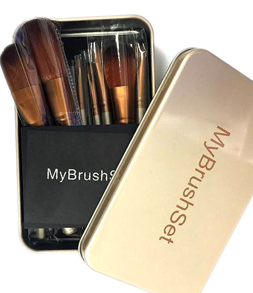 12 Piece Bronze Brush Set , Make Up Brush - My Make-Up Brush Set, My Make-Up Brush Set  - 5