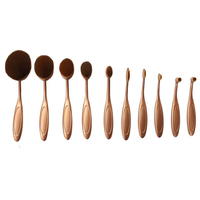 'The Midas Touch' 10 Piece Oval Brush Set ,  - My Make-Up Brush Set, My Make-Up Brush Set  - 1