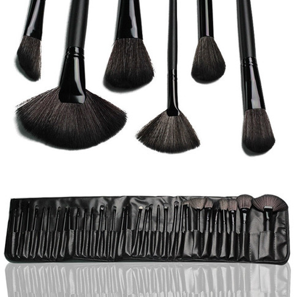 32 Piece Makeup Brush Set with Case in BLACK ,  - My Make-Up Brush Set, My Make-Up Brush Set  - 4
