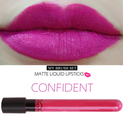 Matte Lip Gloss Confident #25,  - My Make-Up Brush Set, My Make-Up Brush Set  - 16