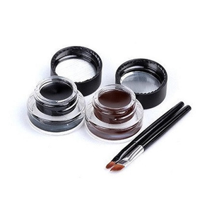 Brown + Black Gel Eyeliner , Make Up Brush - MyBrushSet, My Make-Up Brush Set  - 1