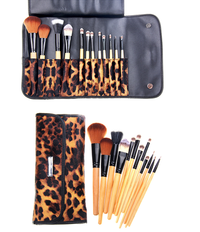 12 Piece Leopard Skin Brush Set , Make Up Brush - MyBrushSet, My Make-Up Brush Set  - 2