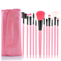 12 Piece Pink Glory Brush Set , Make Up Brush - MyBrushSet, My Make-Up Brush Set  - 1