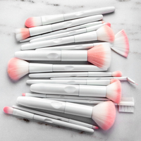 Matte White & Pink Brush Set