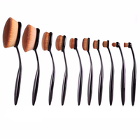 Vegan 10 Piece Oval Brush Set ,  - My Make-Up Brush Set, My Make-Up Brush Set  - 2