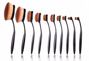 Vegan 10 Piece Oval Brush Set ,  - My Make-Up Brush Set, My Make-Up Brush Set  - 4