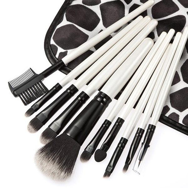 10 Piece Beauty Eyeshadow Brush Kit Set Wood Makeup Brushes Set With Printed Pouch Bag ,  - My Make-Up Brush Set, My Make-Up Brush Set  - 4