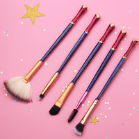 Wonder Woman Inspired 5 Piece Makeup Brush Set