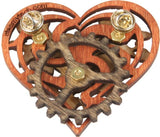 Imaginary Gear Heart Pin