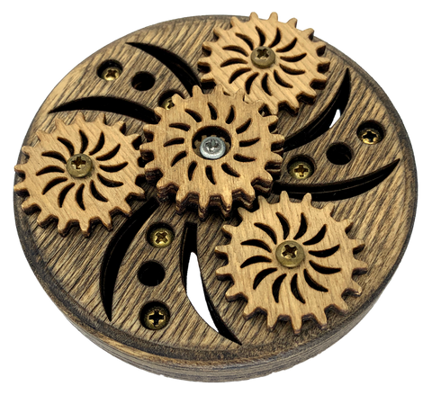 Wooden Geared Fidget Spinner - Kinetic Rose