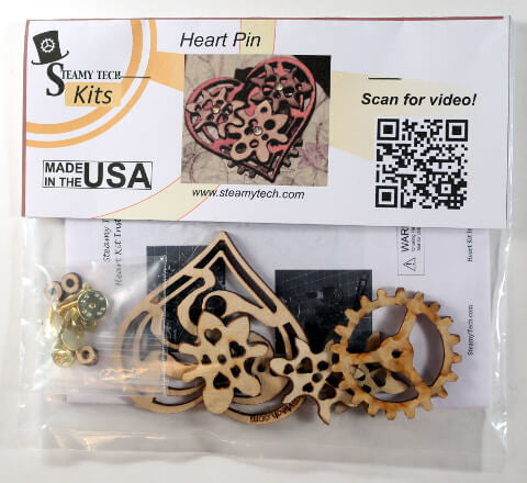 Imaginary Gear Heart Pin Kit