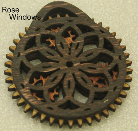Rose Ornament with Moving Gears