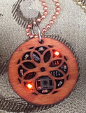 Blinky Pendant with Wood Case