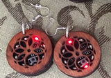 Blinky Earrings with Wood Case