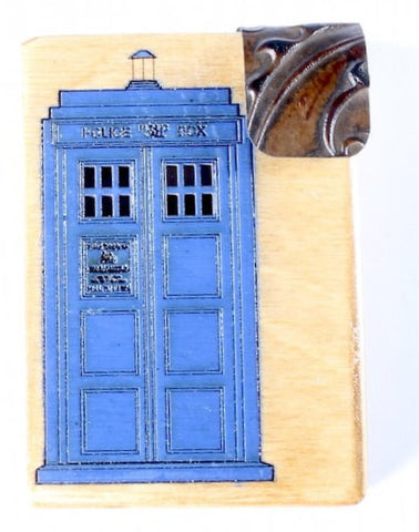 2-color Wooden Dr. Who Mini Wallet