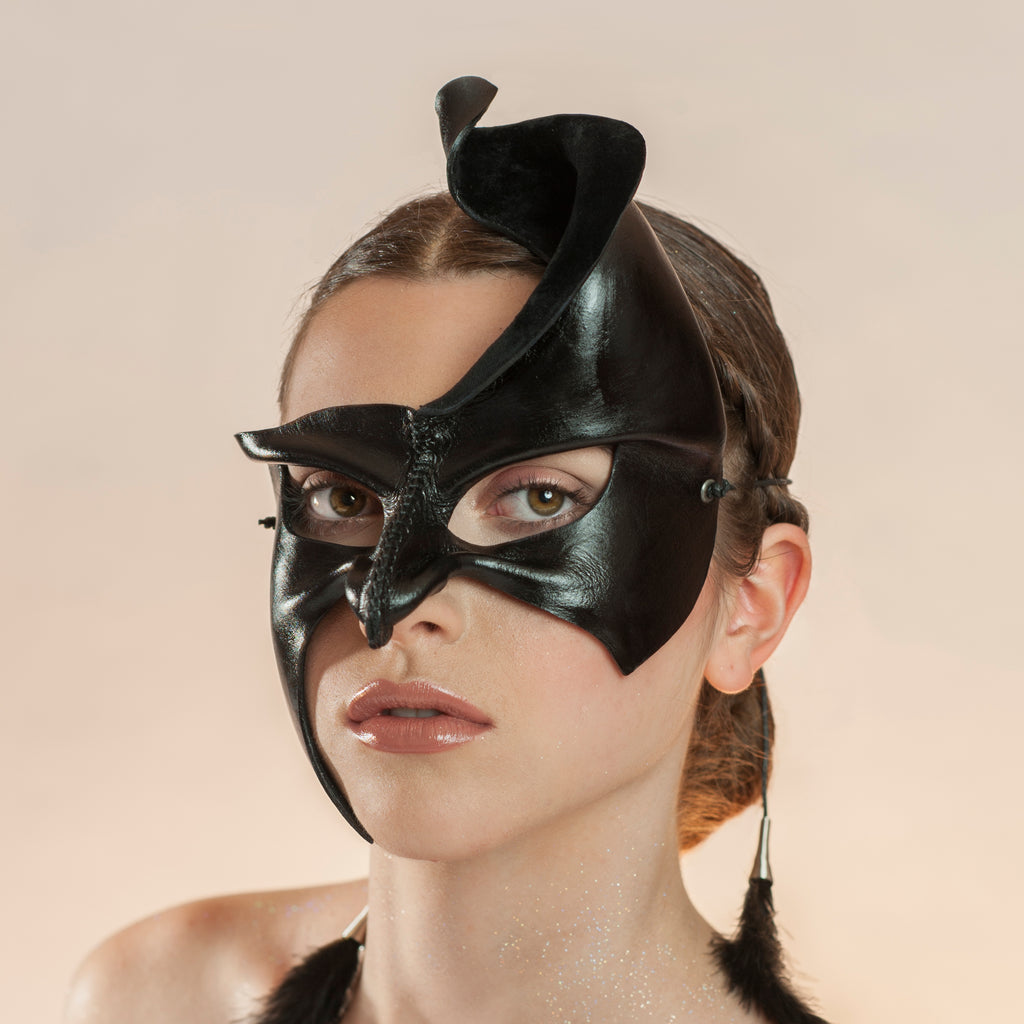 The romantic and provocative leather masks of Wendy Drolma