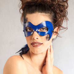 """Cirque"" Sexy Leather Masquerade Mask by Wendy Drolma"