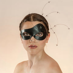 New York maskmaker Wendy Drolma. Gallery for haute couture masks and headdresses.