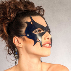 """Laveaux"" Sexy Leather Masquerade Mask by Wendy Drolma"