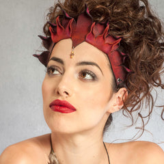 """Malea"" Handmade Leather Headdress by Wendy Drolma"
