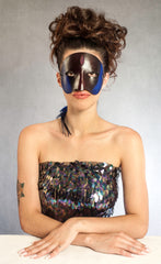 """Misha"" Handmade Leather Masquerade Mask by Wendy Drolma"