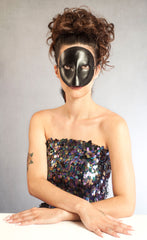 """Moretta"" Handmade Leather Moretta Mask by Wendy Drolma"