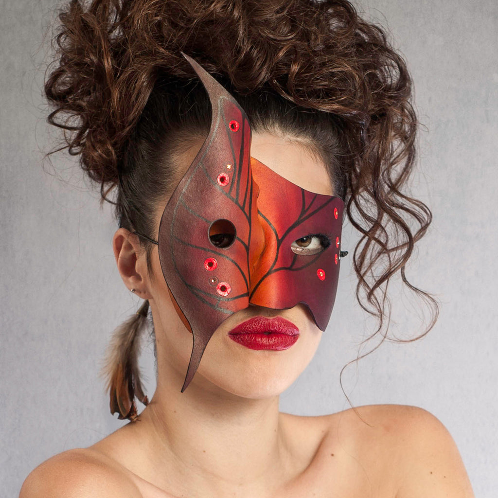 """Morpho"" Handmade Leather Blue Butterfly Mask by Wendy Drolma"