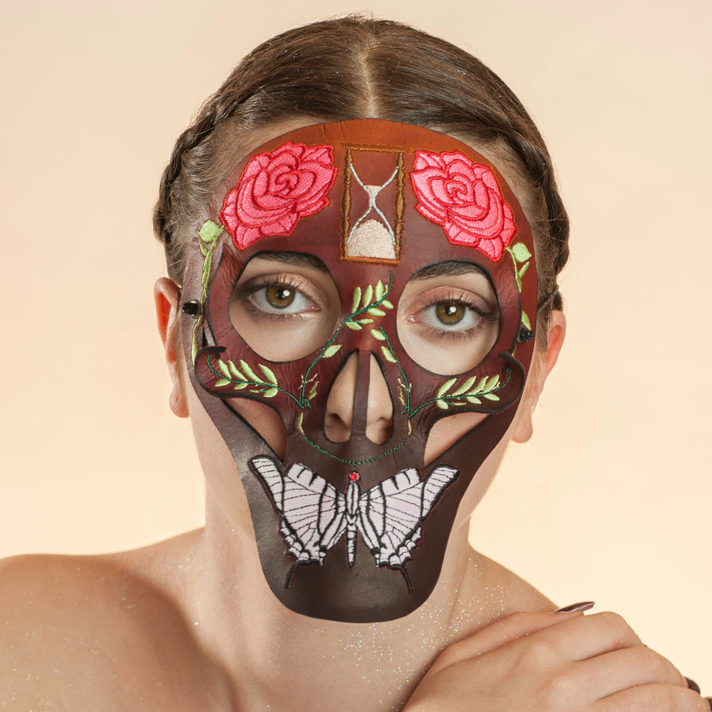New York maskmaker Wendy Drolma. Gallery for uncompromising masks and headdresses.