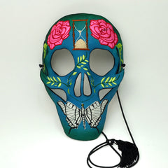 """Sugar Skull"" Colorful Leather Masquerade Mask by Wendy Drolma"