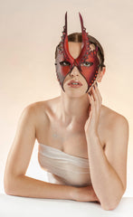 The romantic and provocative handmade leather masks of Wendy Drolma