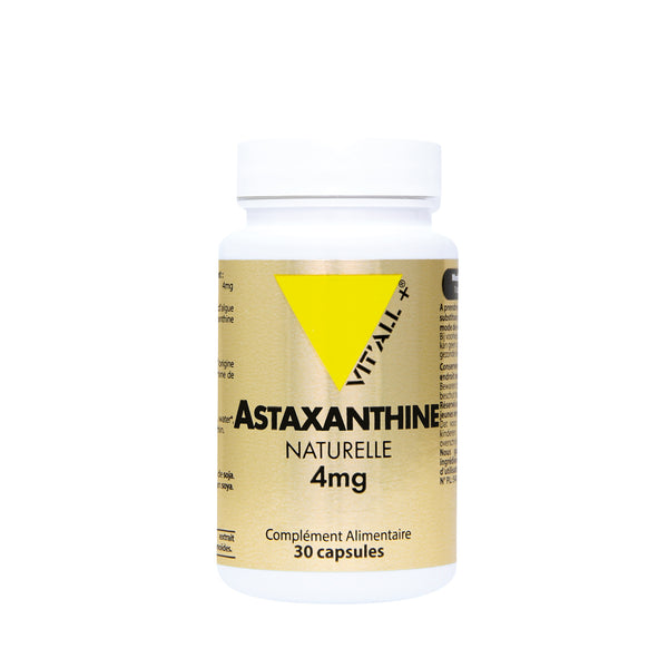 Astaxanthine naturelle 4 mg- 30 capsules-Vit'all+