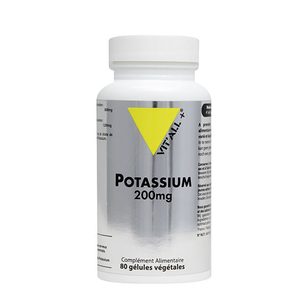 Potassium 200 mg- 80 gélules végétales-Vit'all+