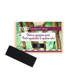 Recharge Ombre à paupières rectangle 206 Noir mat-Zao Make up - Boutique Pleine-Forme