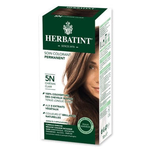 Soin colorant permanent 5N Chatain clair -150 ml-Herbatint - Boutique Pleine-Forme