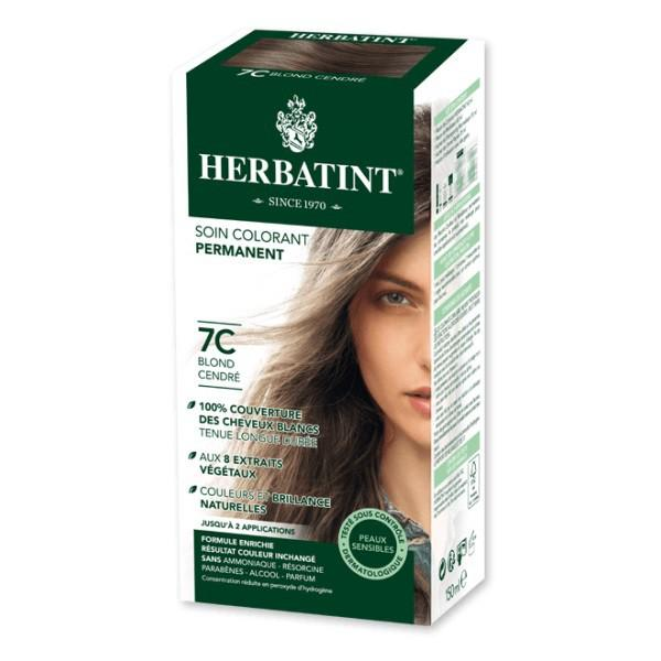 Soin colorant permanent 7C Blond Cendré -150 ml-Herbatint - Boutique Pleine-Forme