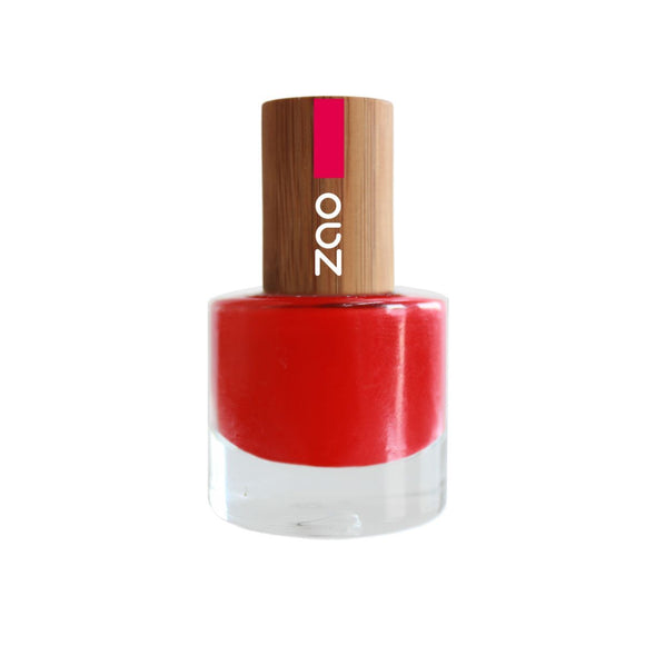 Vernis à ongles Bio - 650 Rouge carmin- 8 ml - Zao Make-up - Boutique Pleine-Forme