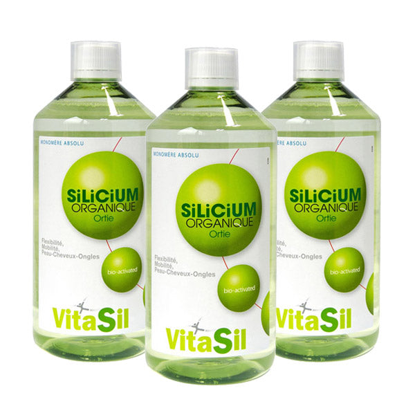 Silicium organique Bio-activé - lot de 3 x 500 ml-Vitasil - [shop_name1. Phytospagyrie N°15  Stimulant physique et mental -300ml-Vecteur energy]