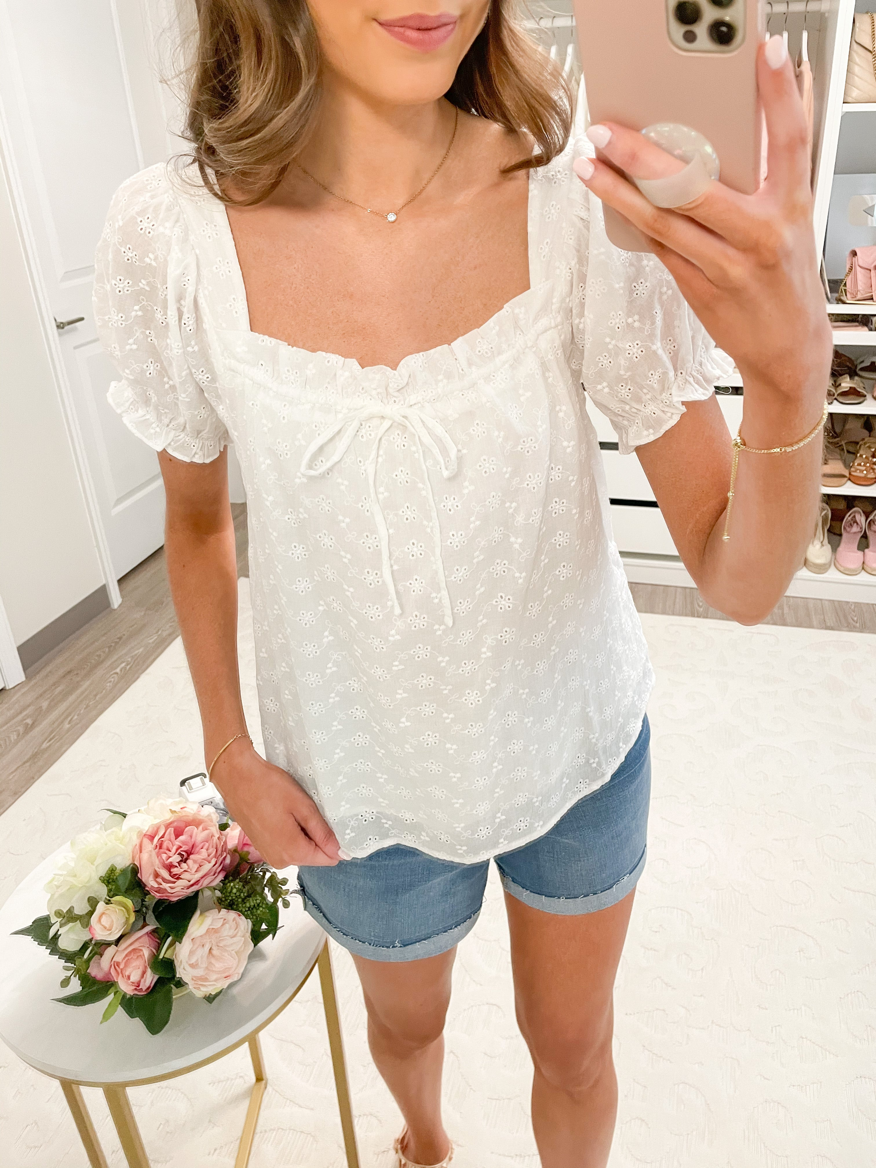 Taking Chances White Puff Sleeve Top